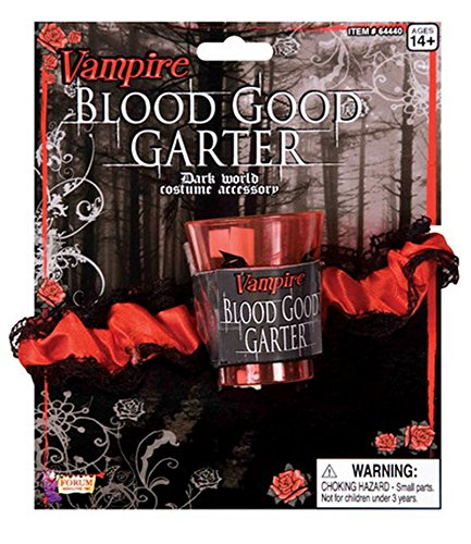 Forum Novelties Women's Vampire Garter Dark World Accessory, Multi-color, One Size