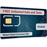 Global Unlimited SIM by Mobal. Unlimited Roaming Data and Unlimited Texts. Excellent coverage including all of Europe. International SIM Card with great calling rates. One month, only $50!!