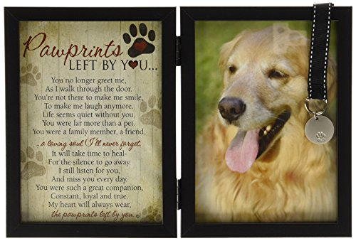 Pawprints Memorial Pet Tag Frame - Pawprints Left By You (Dog Picture Frame Memorial compare prices)