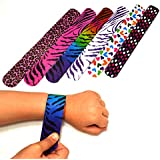 Dazzling Toys Hearts/animal Print Slap Bracelets - Pack of 50- Mega Pack!