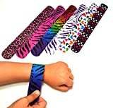 Dazzling Toys Hearts/animal Print Slap Bracelets - Pack of 50 (D061)