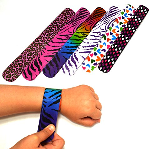 Dazzling Toys Hearts/animal Print Slap Bracelets - Pack of 50- Mega Pack! (Party Favors For Kids compare prices)