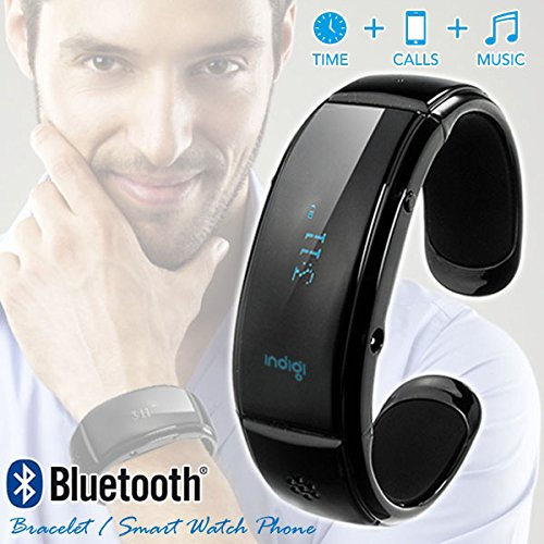 Indigi® Bluetooth Smart Wrist Watch Phone Bracelet For Ios Android Samsung Iphone Htc Motorola (Us Seller)