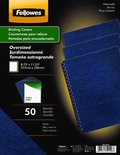 Fellowes Binding Presentation Covers, Oversize Letter, Navy, 50