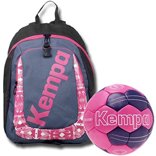 Kempa zaino con pallamano rete per bambini con passenden Petrolio/Magenta rosa, pink/petrol, 1