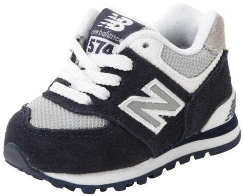 New Balance KL574 Classic I Running Shoe (Infant/Toddler),Navy/White,6 M US Toddler (New Balance Baby Shoes compare prices)