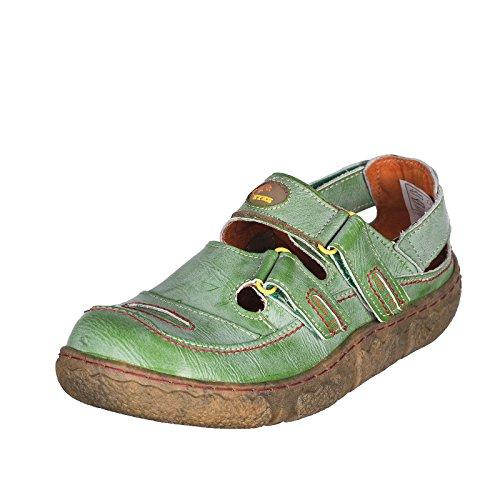 TMA TMA Klett Halbschuh, Sandali donna, Verde (Verde vintage), 36