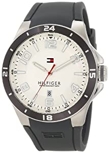 Tommy Hilfiger Men's 1790863 Sport Bezel and Silicon Strap Watch