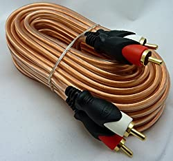 Philmore Premium 25-ft Crystal Clear Shielded Audio Cable with Dual Gold Plated RCA Plugs on Each End