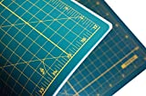 Plustin Arts Self Healing Cutting Mat A3 With Grids - 18L x 12W Inches - Professional Double Sided Rotary Cutting Mat with Grids