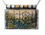 Art Print Necklace with Matching Gift Box: 'The Garden Gate'
