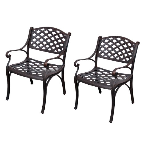 cast aluminum patio furniture sets walker edison cast aluminum dining