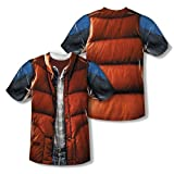Back to the Future McFly Vest Costume Sublimation Adult T-Shirt (Adult X-Large)