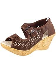 Thari Choice Woman And Girls Synthetic Velvet Wedges Heel Sandal - B01D00XG3O