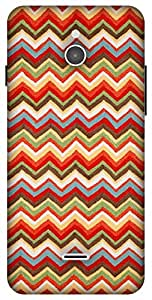 The Racoon Lean Summer Chevrons hard plastic printed back case / cover for Infocus M2