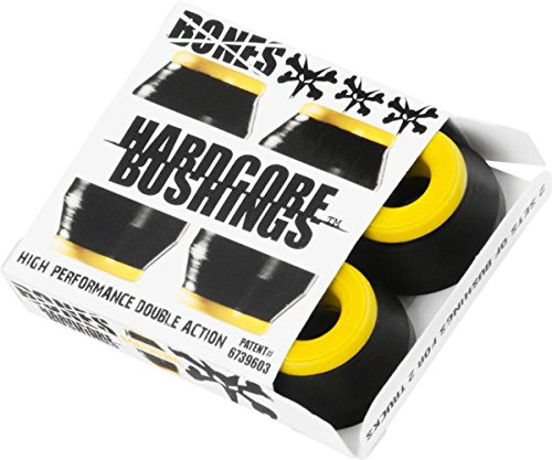 Bones Hardcore 4pc Medium Black Yellow Bushings Skateboard Bushings (Bones Medium Bushings compare prices)