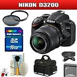 Nikon D3200 24.2 MP DSLR with 18-55mm VR Zoom Lens (Black) Package 2