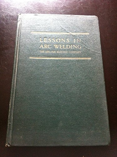 Lessons In Arc Welding 2Nd Edition