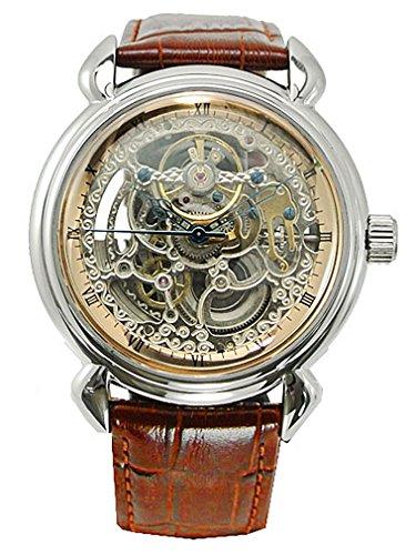 アルカフトゥーラ  ARCA FUTURA 腕時計 機械式 メンズ・牛革ベルト(ブラウン) 309SB-BR