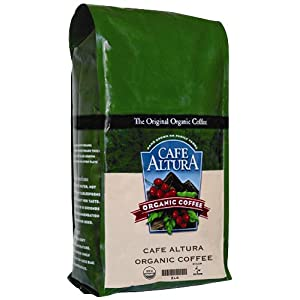 Cafe Altura Organic Coffee, French Roast, Whole Bean, 32-Ounce Bags