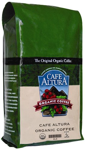 Cafe Altura Organic Coffee, Regular Roast, Whole Bean, 32-Ounce Bag