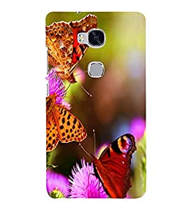 printtech Flower Butterfly Back Case Cover for Huawei Honor 5X :: Huawei Honor X5 :: Huawei GR5