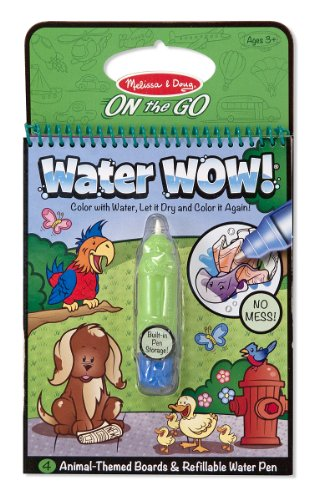 Melissa & Doug Water Wow Coloring Book - Animals - 1