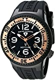Swiss Legend Men's 21848P-BB-01-RA Neptune Black Dial Black Silicone Watch