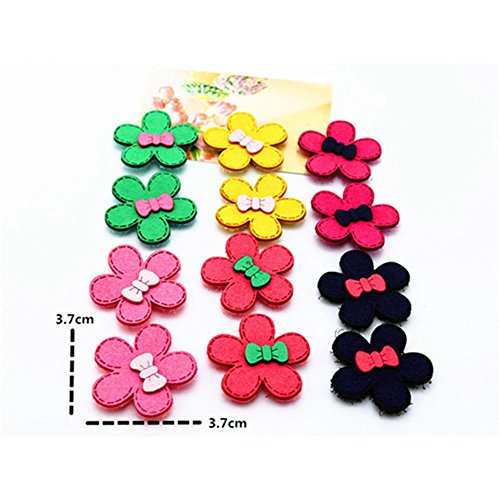 Lovef Bowknot Cartoon Fringe Sticker Multicolor Clip Star Bangs Hair Velcro Pad Hair Styling Accessories 10 Pcs (Flower ) (Velcro Hair Clip compare prices)