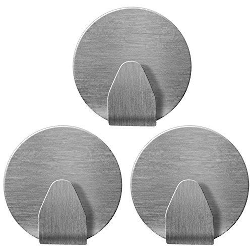 tatkraft-runda-3-ganci-appendiabiti-rotondi-autoadesivi-acciaio-inox