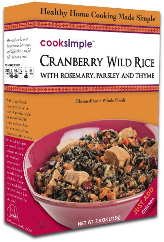 cookSimple Cranberry Wild Rice, 6.1 oz. (Pack of 4)