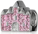 Disney Stainless Steel Crystal Castle Happily Ever After Bead Charm