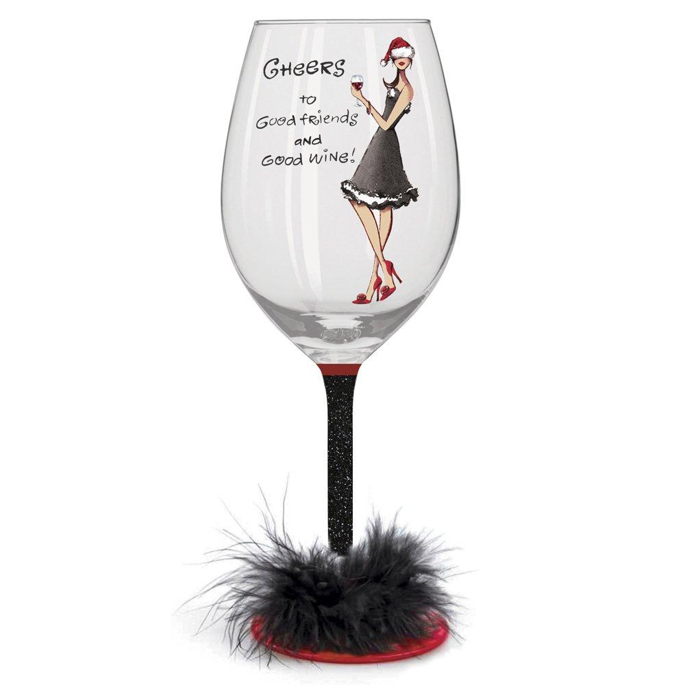 Christmas Party Girl Wine Glasses | Christmas Wikii