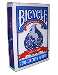 Bicycle 2008 Election Edition Democrat Poker-Bridge Playing Cards