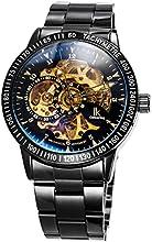 Comprar Alienwork IK Reloj Automático esqueleto mecánico Acero inoxidable negro negro 98226-12