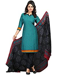 DnVeens Womens Chudidar Crepe Printed Unstitched Dress Material