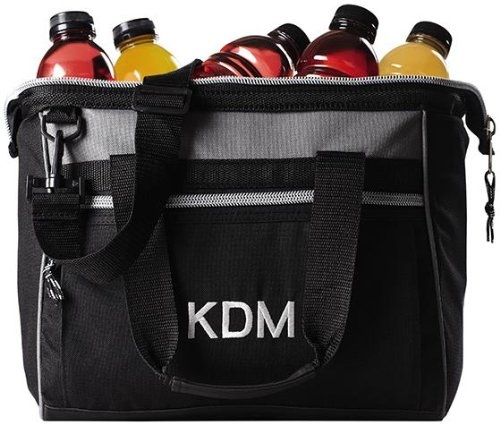 "Personalized Monogram Deluxe Cooler - 14""Wx12""H, Black front-114281"