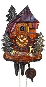 Cuckoo Clock Black Forest House, Deer, Bench