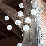 Home - 10er LED Solar Lampion Lichterkette wei�