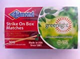 "Diamond Strike On Box ""Greenlight"" Matches 300 Ct"