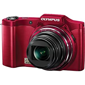 Olympus SZ-12 14MP Digital Camera with 24x Wide-Angle Zoom (Red) (Old Model)