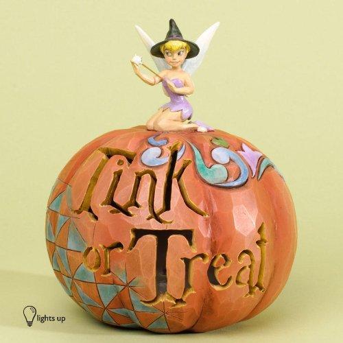 Jim Shore for Enesco Disney Traditions Pumpkin TINK or Treat Figurine, 6.25-Inch