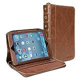 51kNKpMgZ6L. SL160  iPad Air Case, GMYLE Book Rotating Portfolio Case Vintage for iPad Air   Brown   360 Degree Rotating Swivel Folio Flip Case Cover