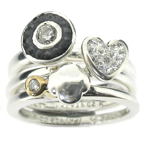 Truth Silvermist Stackable Ring Collection - Size L