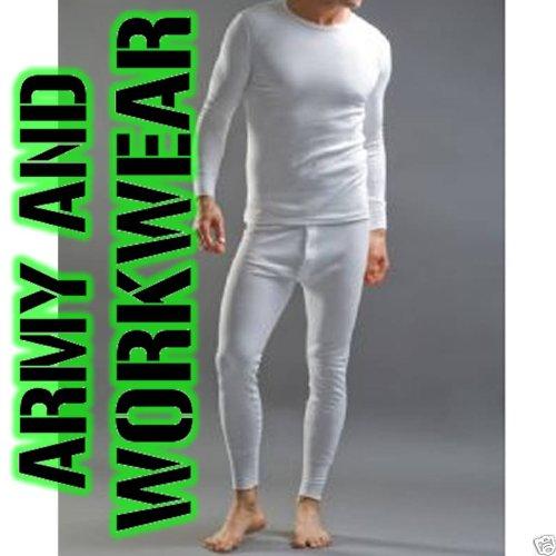 White Thermal Underwear Set 1 T-shirt & 1 Long John (2 pieces)