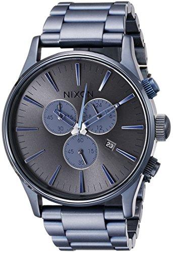 nixon-sentry-chrono-deep-blue-reloj-de-cuarzo-para-hombre-correa-de-acero-inoxidable-color-azul