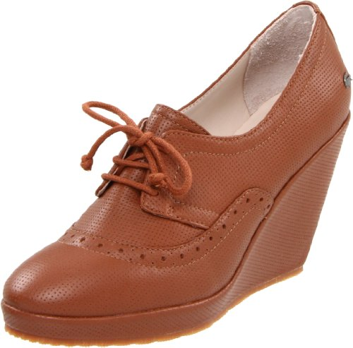 Lacoste Women's Alisea Wedge Pump,Tan,8.5 M US
