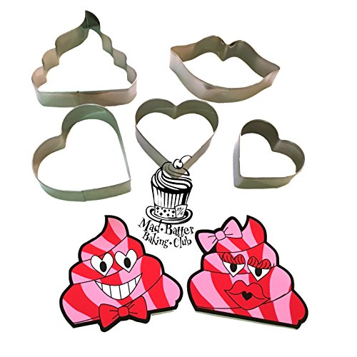 Smooch Lips and Hearts Cookies Cutters Set