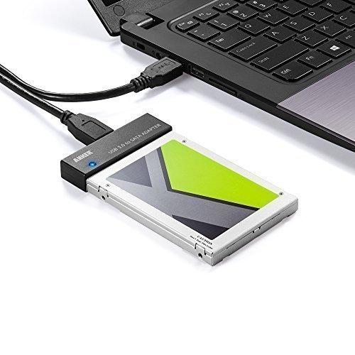 Anker Adattatore USB 3.0 a SATA per Hard Disk da 2.5 pollici (HDD) e Unità a Stato Solido (SSD) [Alimentatore Non Incluso]