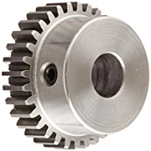 Boston Gear Spur Gear, 14.5 Pressure Angle, Steel, Inch, 20 Pitch